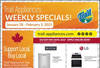 Trail Appliances (AB & SK) Flyer January 28 to February 3