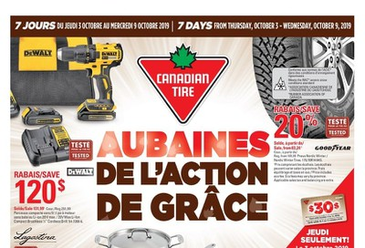 Canadian Tire (QC) Flyer October 3 to 9