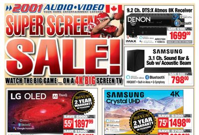 2001 Audio Video Flyer January 29 to February 4