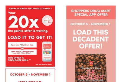 Shoppers Drug Mart (West) Flyer October 5 to 10