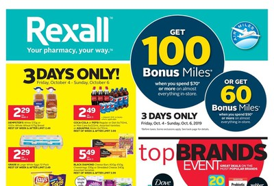Rexall (West) Flyer October 4 to 10