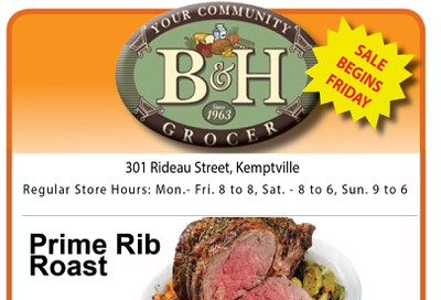 B&H Your Community Grocer Flyer October 4 to 10