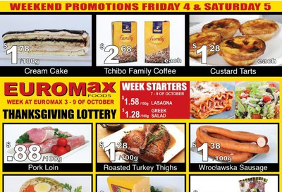 EuroMax Foods Flyer October 3 to 9