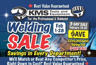 KMS Tools and Equipment Flyer February 1 to 28