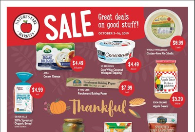 Nature's Fare Markets Flyer October 3 to 16