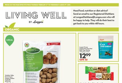 Longo's Living Well Flyer February 4 to March 3