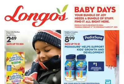 Longo's Baby Days Flyer February 4 to March 3