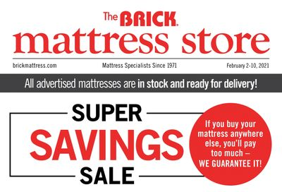 The Brick Mattress Store Flyer February 2 to 10