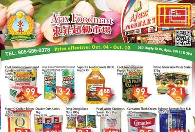 Ajax Foodmart Flyer October 4 to 10