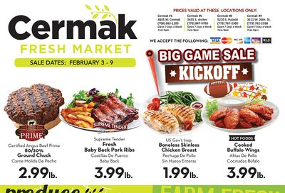 Cermak Fresh Market (IL) Weekly Ad Flyer February 3 to February 9, 2021