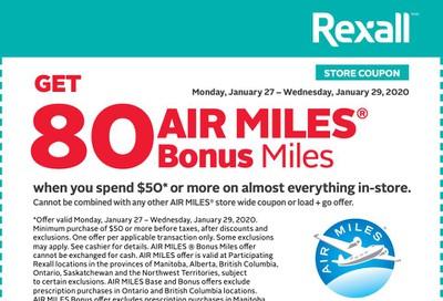 Rexall Canada Coupons: Get 80 Bonus Air Miles January 27 - 29