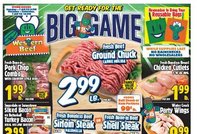 Western Beef Big Game Day Sale Weekly Ad Flyer February 4 to February 10, 2021