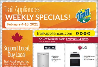 Trail Appliances (AB & SK) Flyer February 4 to 10