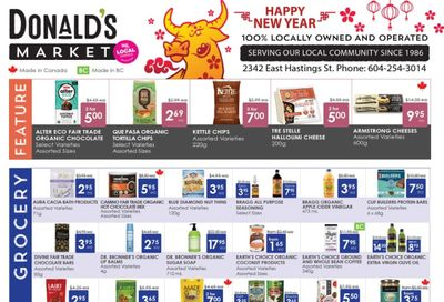 Donald's Market Flyer February 4 to 17