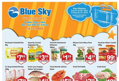 Blue Sky Supermarket (North York) Flyer October 4 to 10
