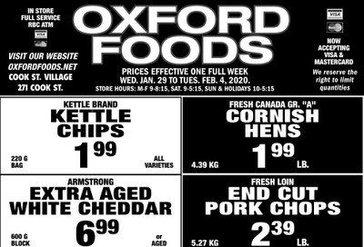 Oxford Foods Flyer January 29 to February 4
