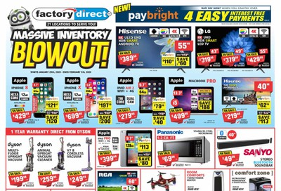 Factory Direct Flyer January 29 to February 5