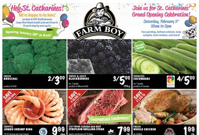 Farm Boy (St. Catharines) Grand Opening Flyer January 30 to February 5