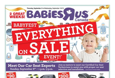 Babies R Us Babyfest Flyer September 5 to 18