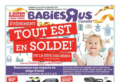 Babies R Us (QC) Flyer September 5 to 18