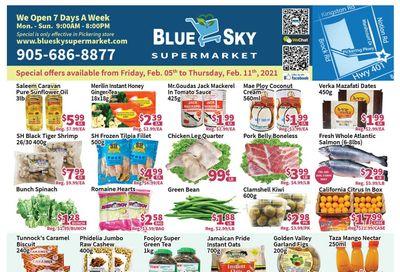 Blue Sky Supermarket (Pickering) Flyer February 5 to 11