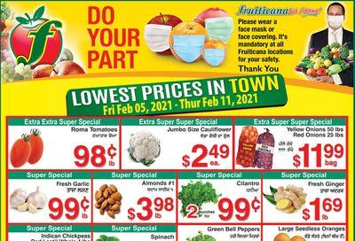 Fruiticana (Edmonton) Flyer February 5 to 11