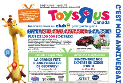 Toys R Us (QC) Flyer September 5 to 11