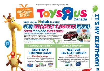 Toys R Us Flyer September 5 to 11