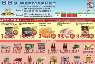 88 Supermarket Flyer January 30 to February 5
