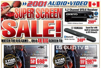 2001 Audio Video Flyer January 31 to February 6