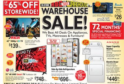 ABC Warehouse Weekly Ad Flyer February 7 to February 13, 2021