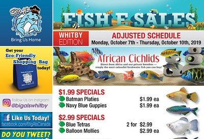 Big Al's (Whitby) Weekly Specials October 7 to 10