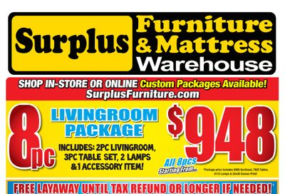 Surplus Furniture & Mattress Warehouse (Fredericton) Flyer February 8 to 28