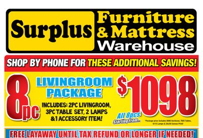 Surplus Furniture & Mattress Warehouse (Corner Brook) Flyer February 8 to 28