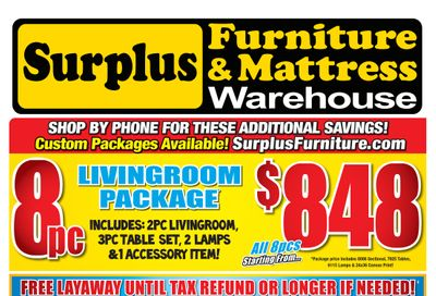 Surplus Furniture & Mattress Warehouse (Barrie) Flyer February 8 to 28