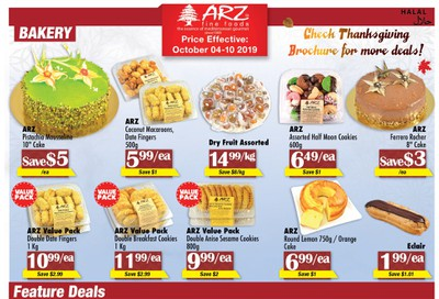 Arz Fine Foods Flyer October 4 to 10