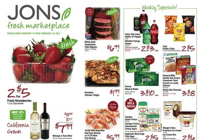 JONS Fresh Marketplace Valentine's Day Sale Weekly Ad Flyer February 10 to February 16, 2021