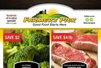 Farmer's Pick Flyer February 11 to 17