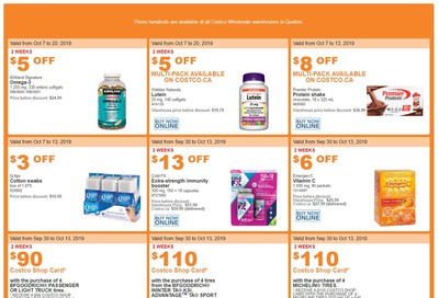 Costco (QC) Weekly Savings October 7 to 13