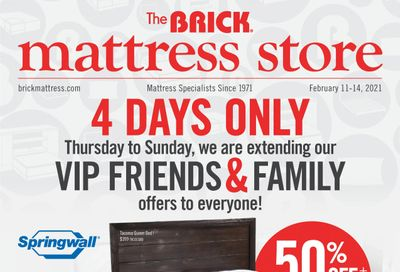 The Brick Mattress Store Flyer February 11 to 22
