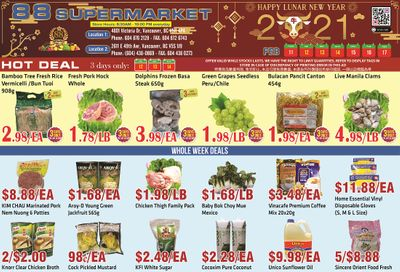 88 Supermarket Flyer February 11 to 17