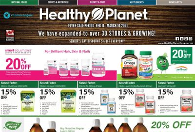 Healthy Planet Flyer February 11 to March 10