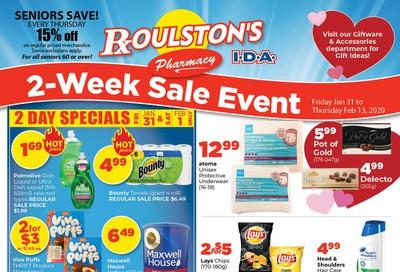 Roulston's Pharmacy Flyer January 31 to February 13