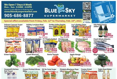 Blue Sky Supermarket (Pickering) Flyer February 12 to 18
