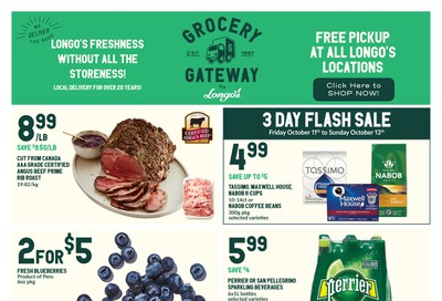 Longo's Grocery Gateway Flyer October 9 to 15
