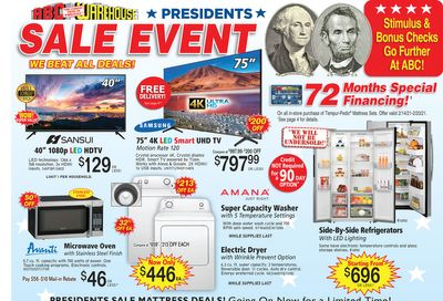 ABC Warehouse Weekly Ad Flyer February 14 to February 20, 2021