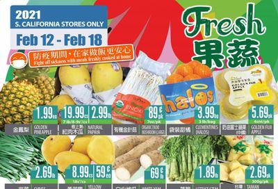 99 Ranch Market (CA) Weekly Ad Flyer February 12 to February 18