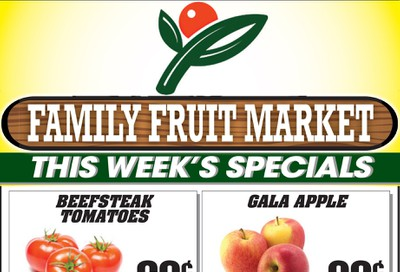 Family Fruit Market Flyer October 9 to 11