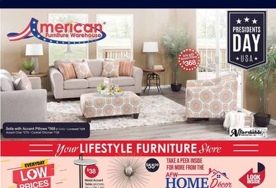 American Furniture Warehouse Weekly Ad Flyer February 13 to February 20