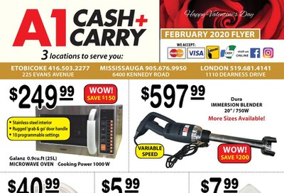 A-1 Cash and Carry Flyer February 1 to 29